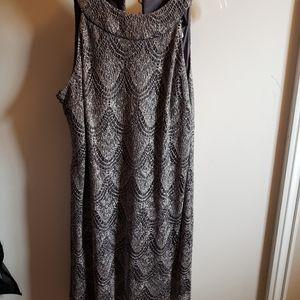 Gray glitter dress
